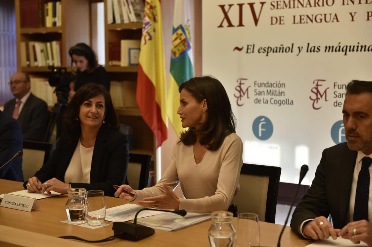 La reina Letizia inaugura en San Millán un seminario sobre lenguaje e inteligencia artificial 1