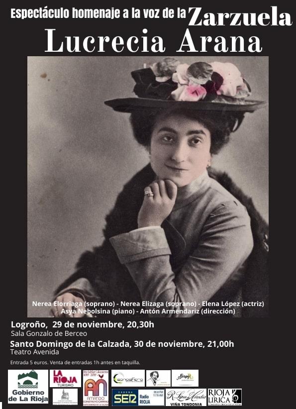 Rioja Lírica ofrecerá un espectáculo de homenaje a Lucrecia Arana en Santo Domingo y en Logroño 1