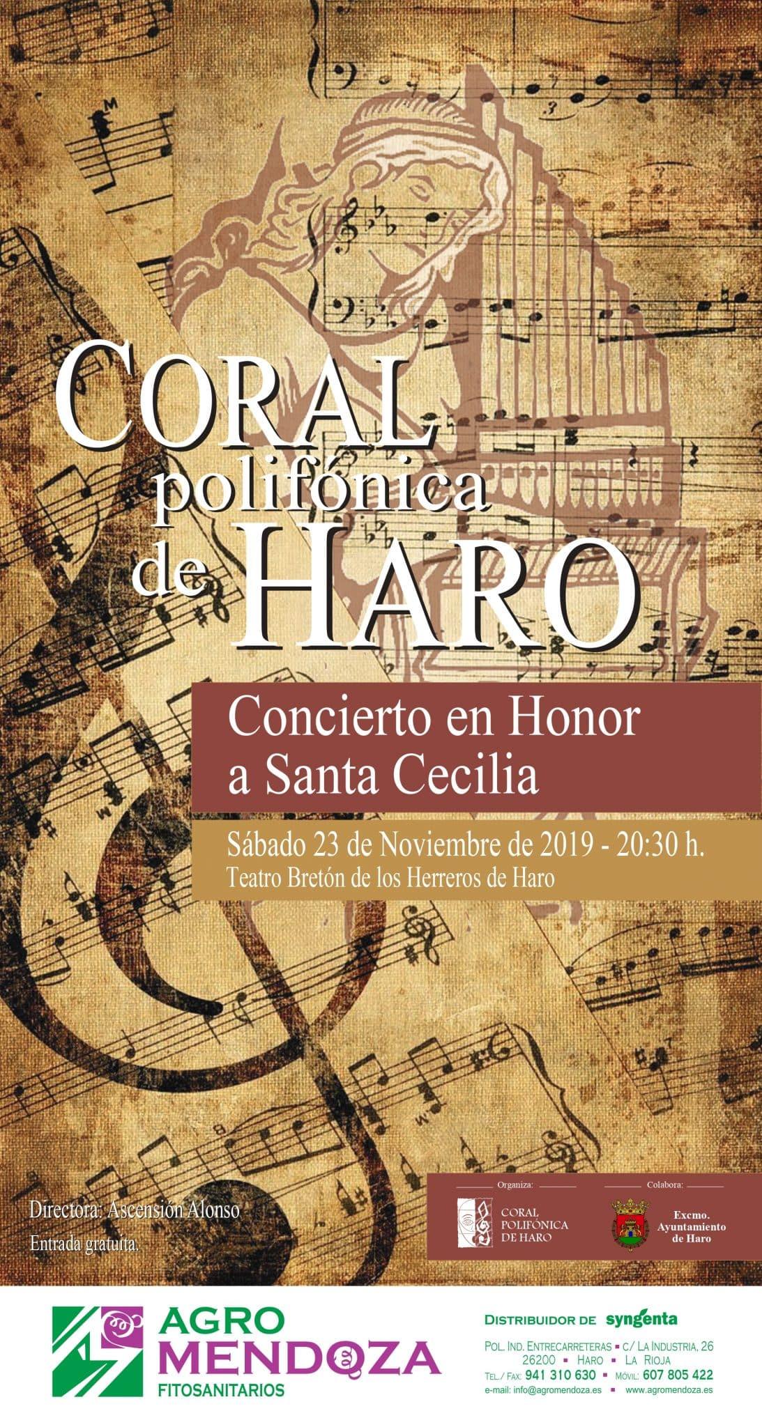 Haro celebra Santa Cecilia con el tradicional concierto de la Coral Polifónica en el Bretón 1