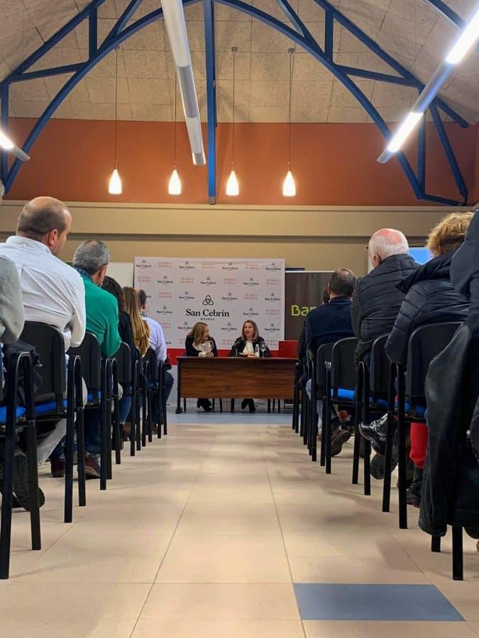 La Bodega Cooperativa San Cebrín de San Asensio acogió la entrega de los Premios Mildiu 1
