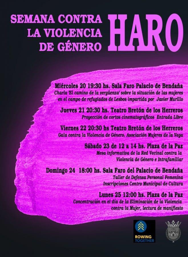 Taller de defensa personal, charlas y cortos en la Semana contra la Violencia de Género de Haro 2