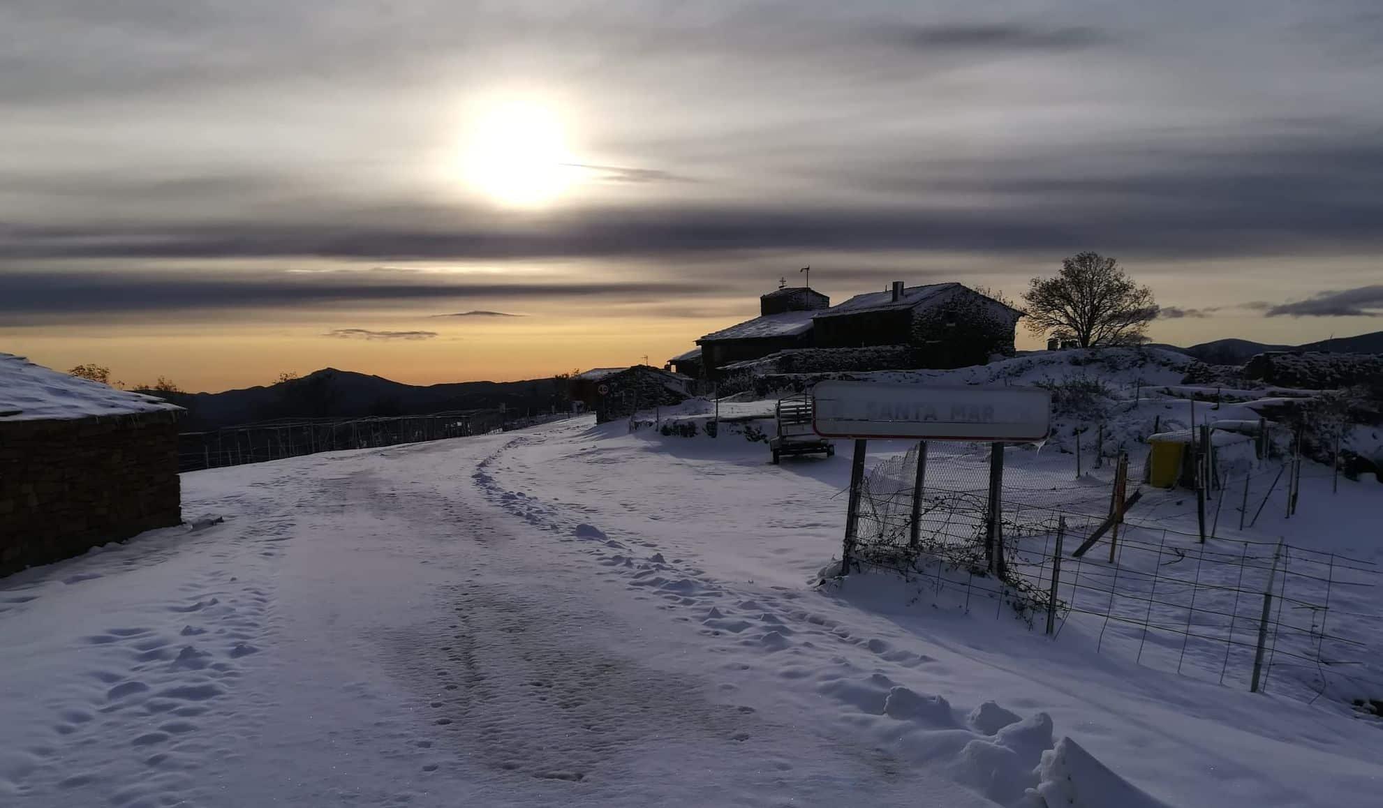 Bella estampa de nieve en Santa Marina | Foto: Gobierno de La Rioja