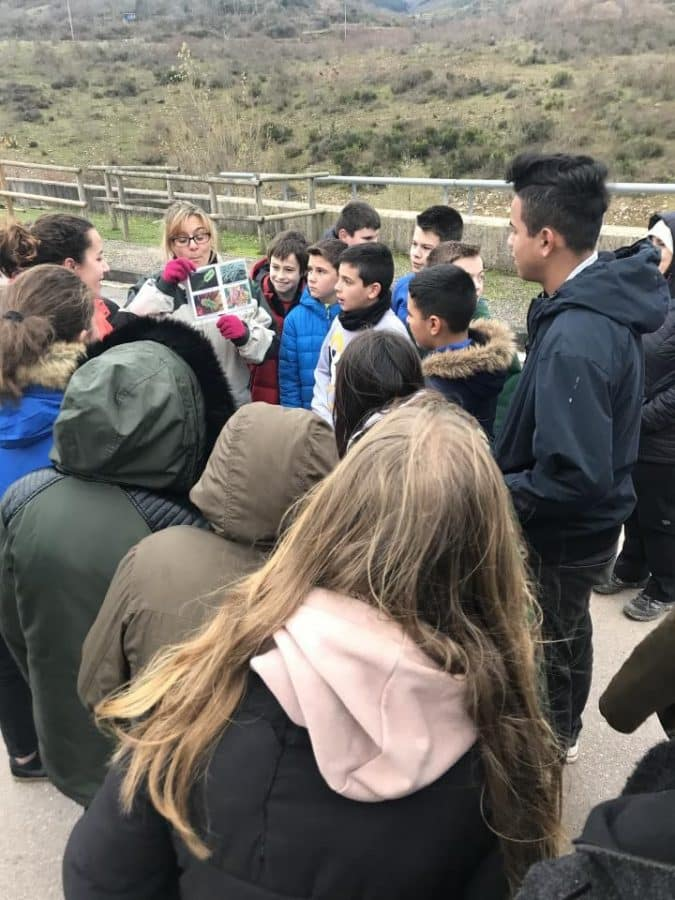 Estudiantes del IES Rey Don García de Nájera recorren el Yalde a través del ciclo urbano del agua 1