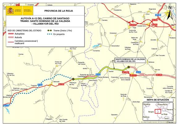 Fomento adjudica las obras de la A-12 entre Santo Domingo y Villamayor del Rio 1