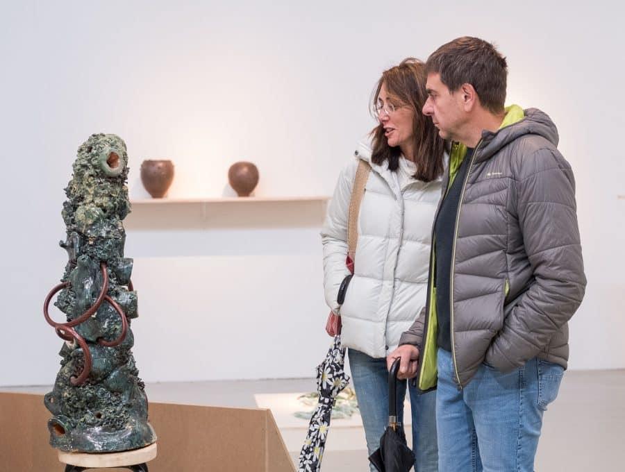 Estudiantes del IES Ciudad de Haro visitan la Feria Internacional de Escultura Contemporánea SCULTO 6