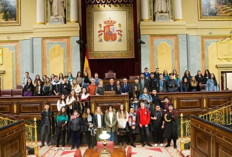 Estudiantes del IES Rey Don García de Nájera visitan el Congreso y el Senado 1