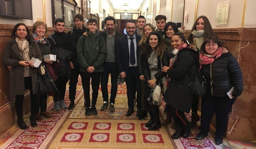 Estudiantes del IES Rey Don García de Nájera visitan el Congreso y el Senado 2