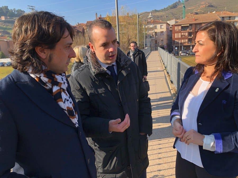 Andreu y sus consejeros conocen de primera mano la situación y necesidades de Nájera 1