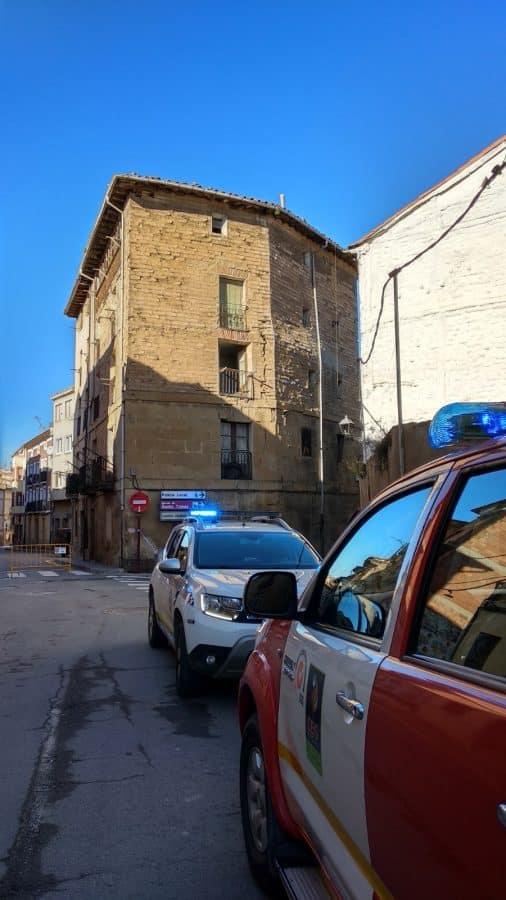 Cortan la calle Linares Rivas en Haro por peligro de derrumbe de un edificio 1