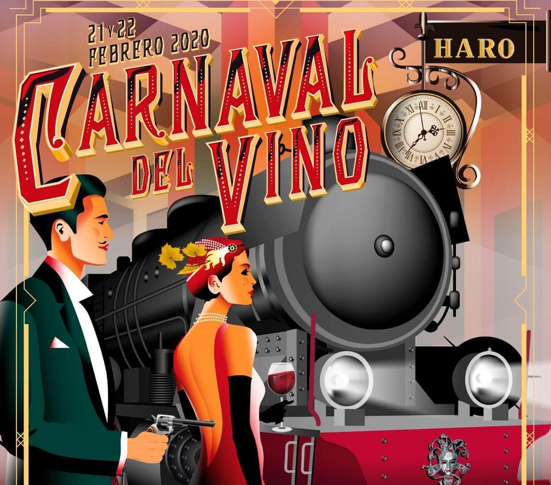 Detalle del cartel anunciador del Carnaval del Vino de Haro 2020.