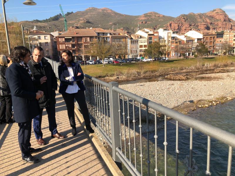 Andreu y sus consejeros conocen de primera mano la situación y necesidades de Nájera 12