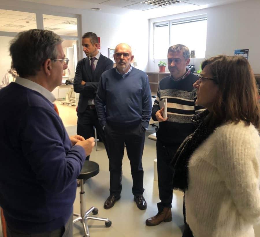 Andreu y sus consejeros conocen de primera mano la situación y necesidades de Nájera 9