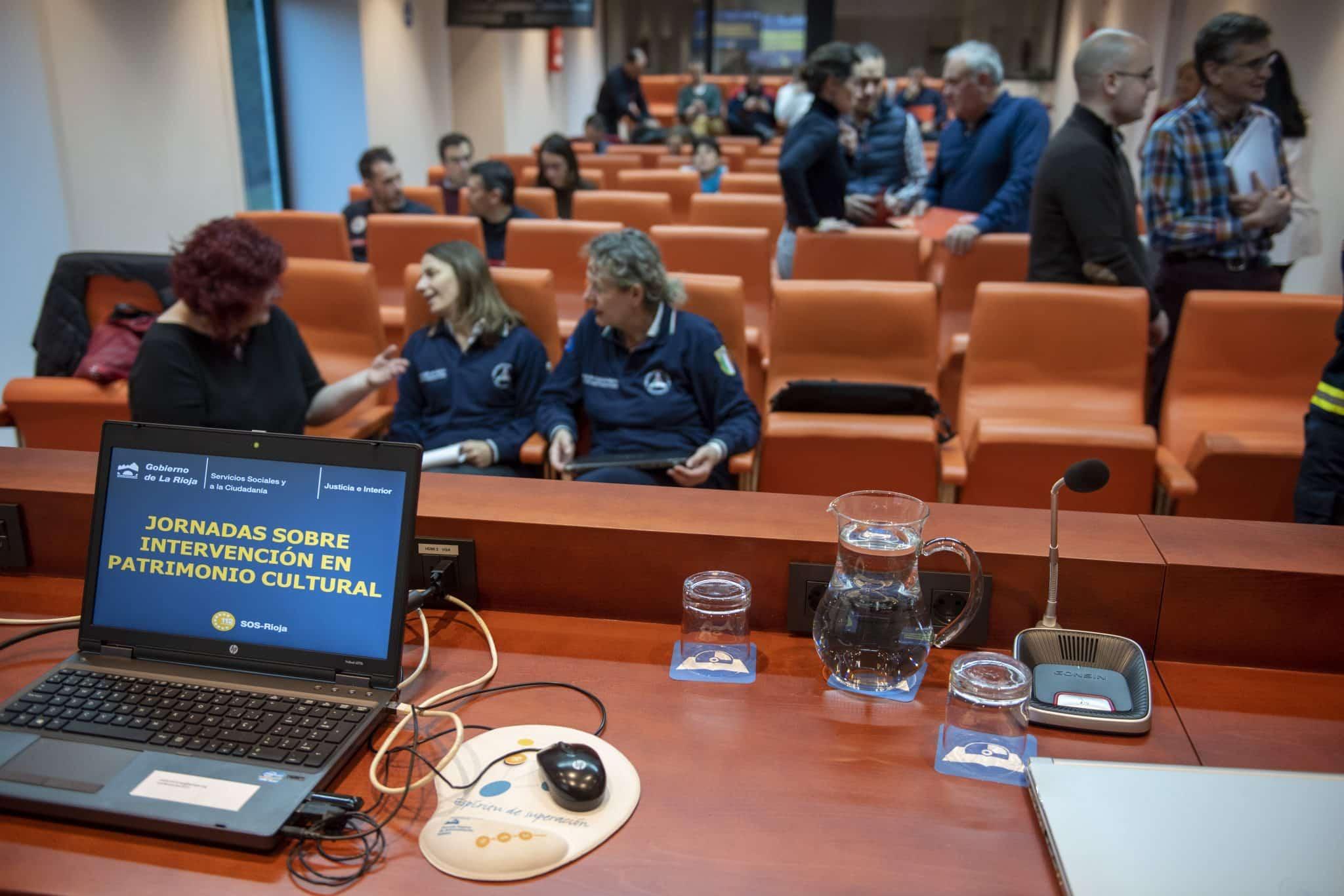 70 profesionales de emergencias participan en una jornada sobre intervención en patrimonio cultural en La Rioja 1