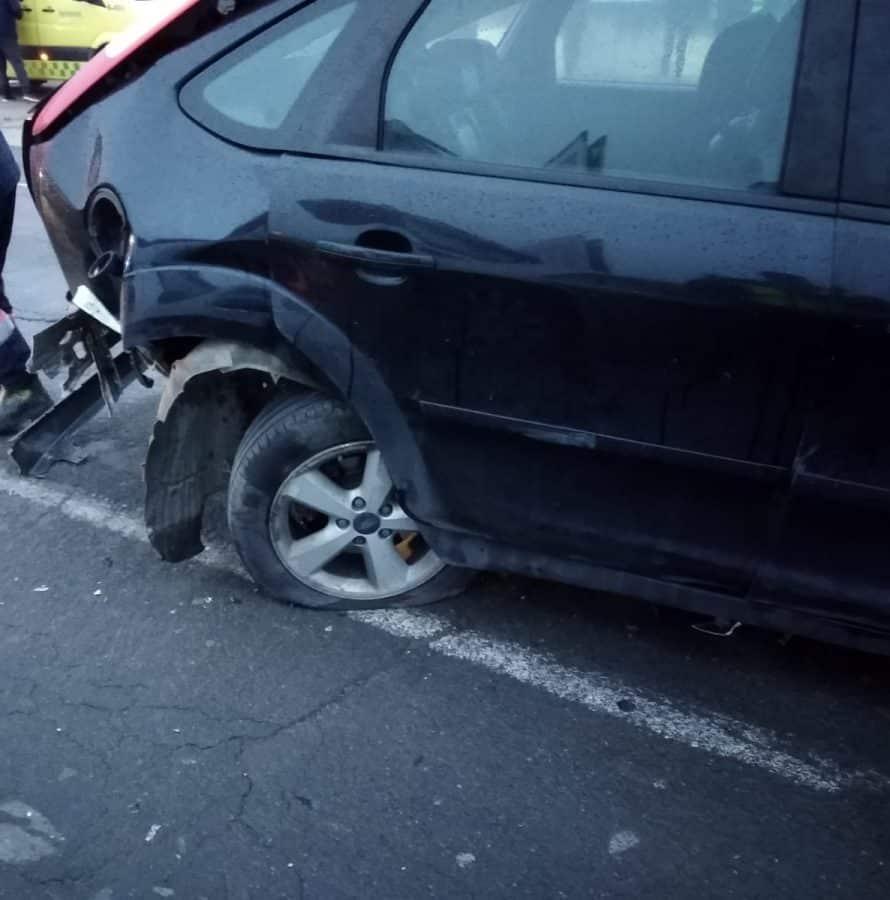 Dos heridos en un accidente de tráfico en Santo Domingo de la Calzada 1