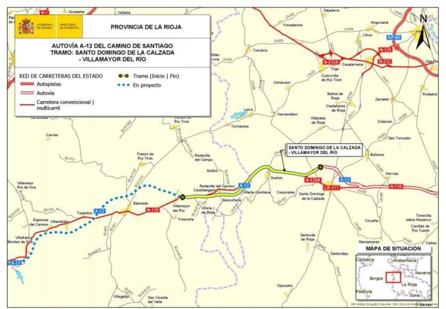 Fomento formaliza el contrato del tramo entre Santo Domingo y Villamayor en la A-12 1