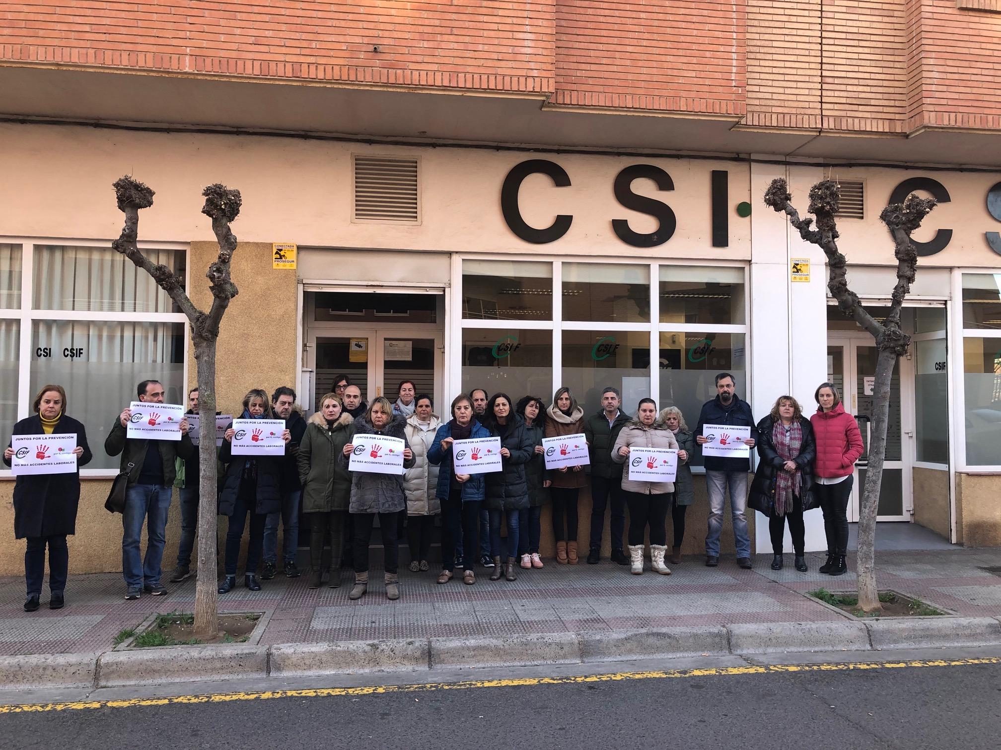 Concentración CSIF La Rioja