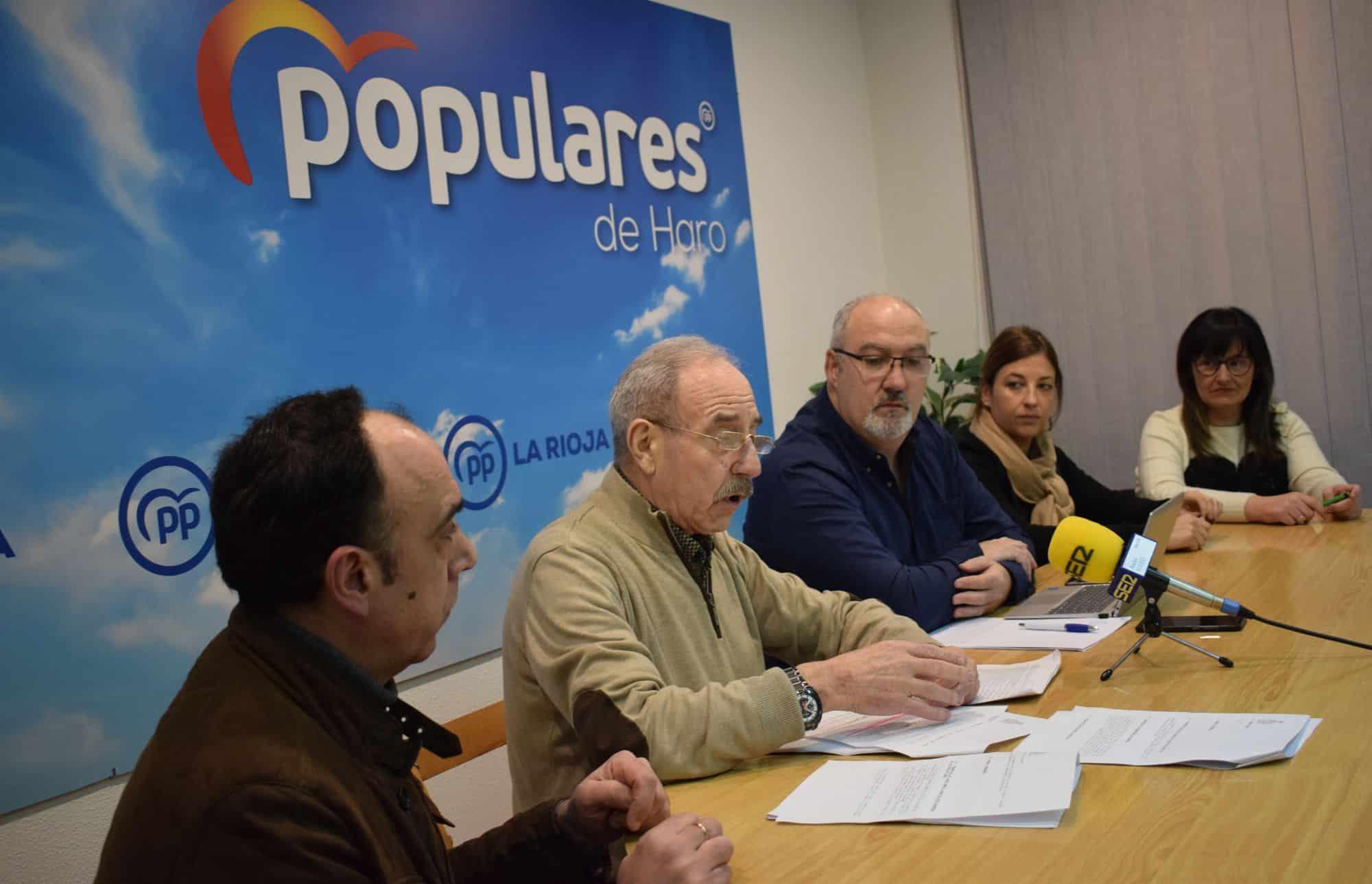 """El PP acusa al equipo de Gobierno de Haro de """"falta de transparencia y opacidad"""" 1"""