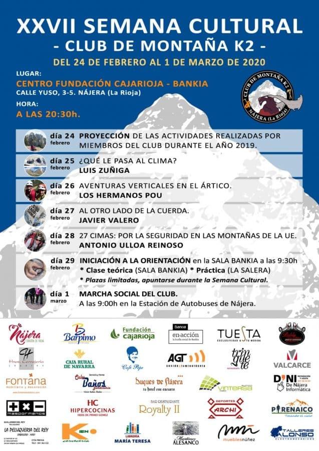 Comienza en Nájera la Semana Cultural de Montaña del Club K2 1