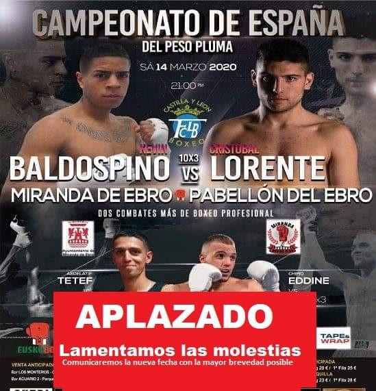 Aplazado el Campeonato de España de Boxeo de Miranda de Ebro 1