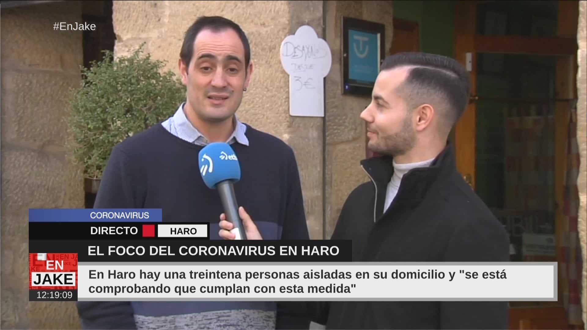 """La hostelería y el comercio de Haro, preocupada con la """"psicosis"""" por el coronavirus 1"""