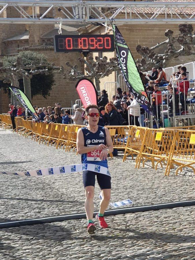 David Rioja y Rebeca Villamor, campeones de la Media Maratón del Camino 2020 1