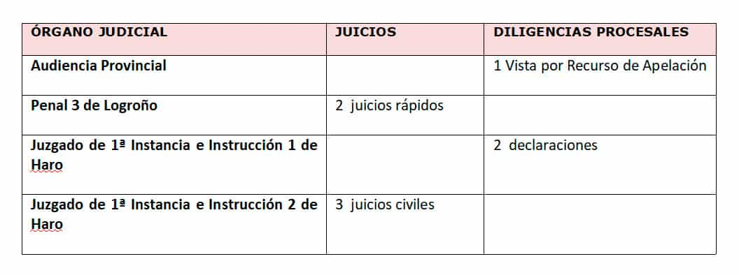 Suspendidos cinco juicios y tres diligencias procesales en Logroño y Haro a causa del COVID-19 1
