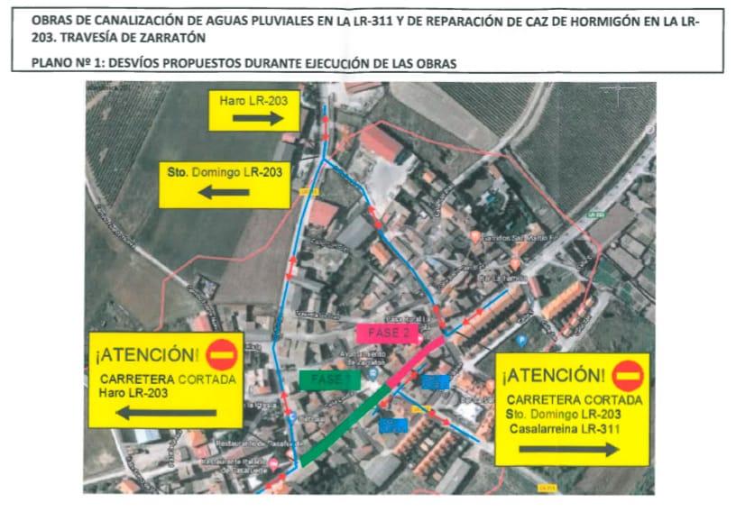 La carretera LR-203 en Zarratón, cortada al tráfico del 9 al 20 de marzo por obras 1