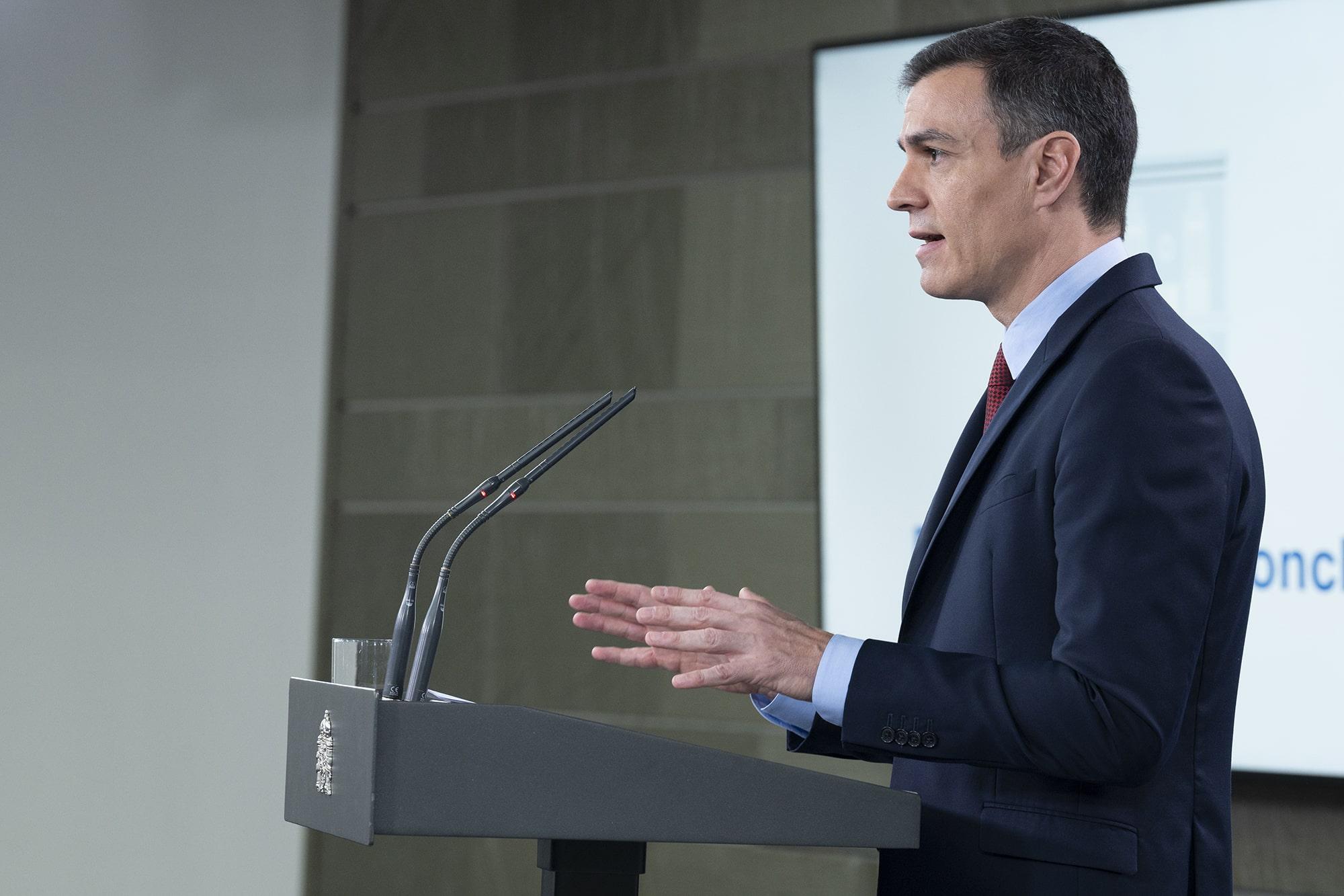 Pedro Sánchez anuncia el Estado de Alarma en España | Foto: Moncloa | Borja Puiz de la Bellacasa
