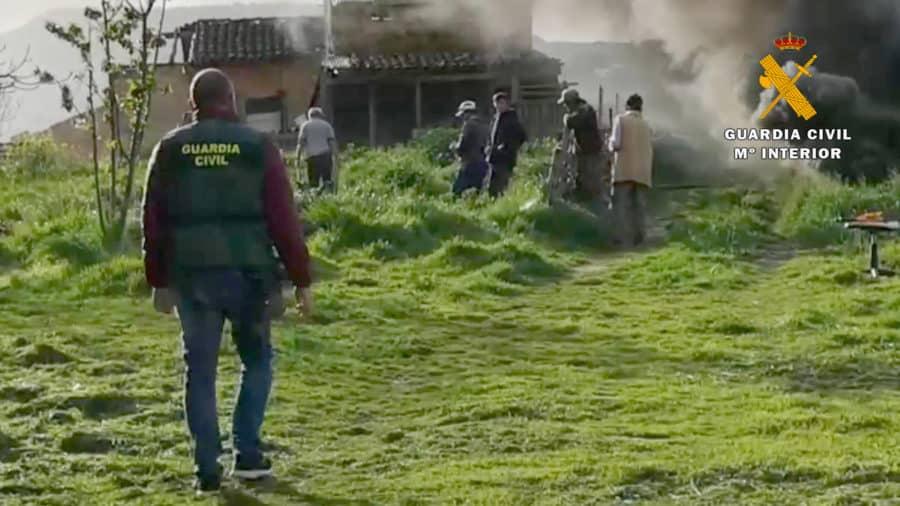 Denunciadas siete personas por una barbacoa y rescatado un conductor en el Cidacos 2