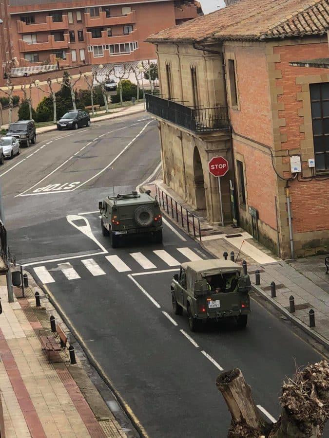El Ejército refuerza la vigilancia en Haro y La Rioja Alta 5