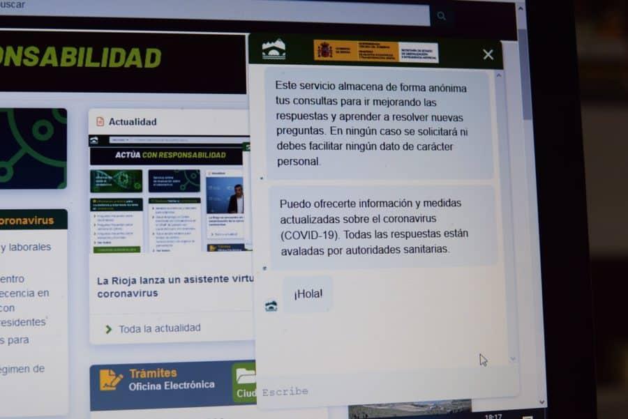 La Rioja lanza un asistente virtual sobre el COVID-19 1