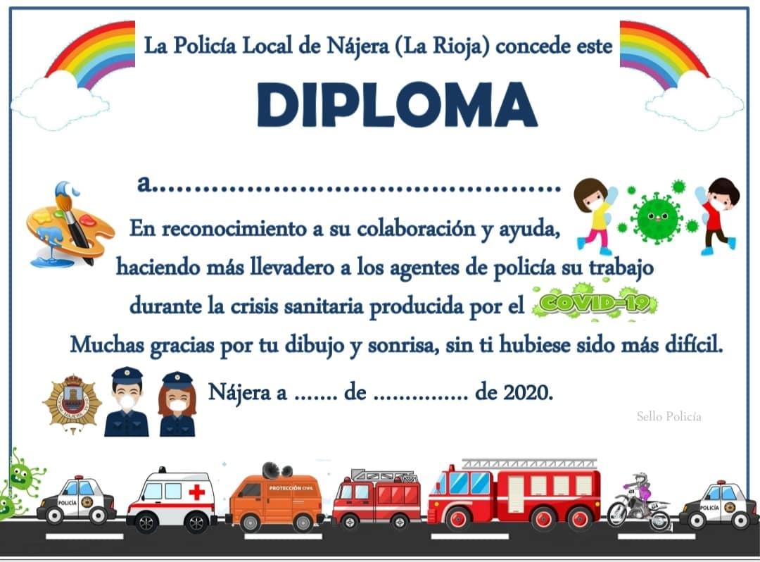 La Policía Local de Nájera lanza un diploma para los más pequeños 1
