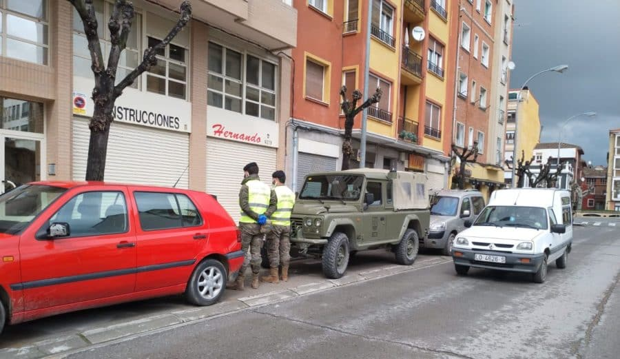 El Ejército refuerza la vigilancia en Haro y La Rioja Alta 1