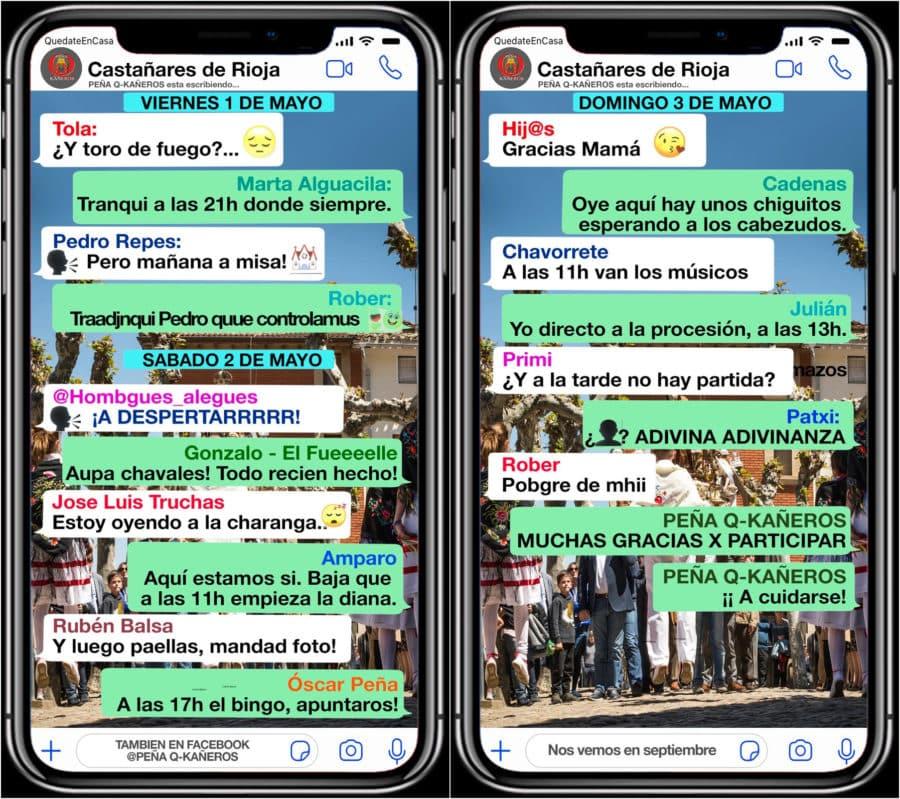 Castañares de Rioja celebrará sus fiestas de mayo de manera online 1