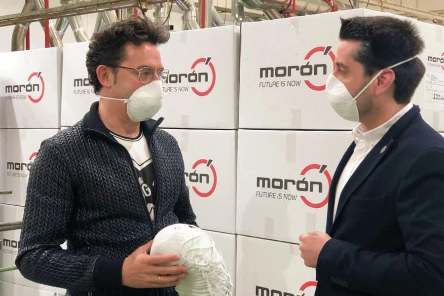 Grupo Morón dona 5.000 mascarillas al Ayuntamiento de Arnedo 1
