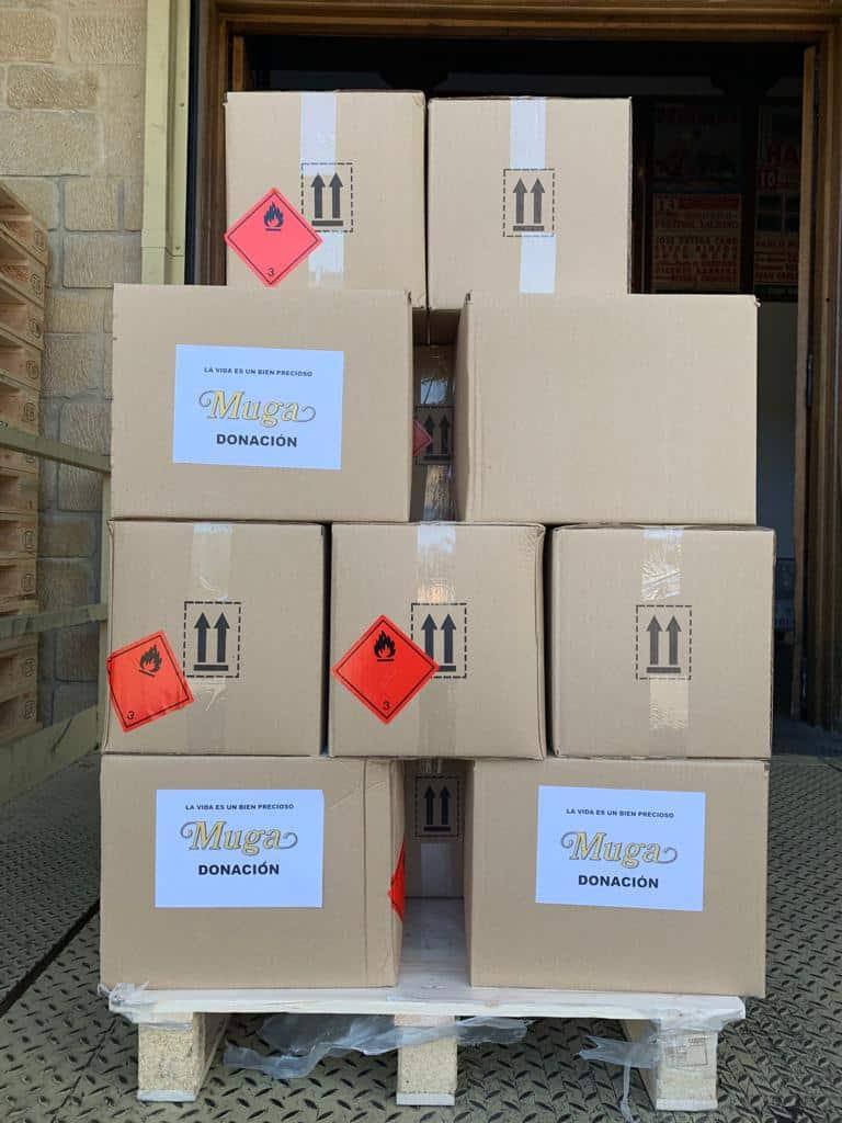 El Club de los 300 de Bodegas Muga dona material contra el coronavirus 4