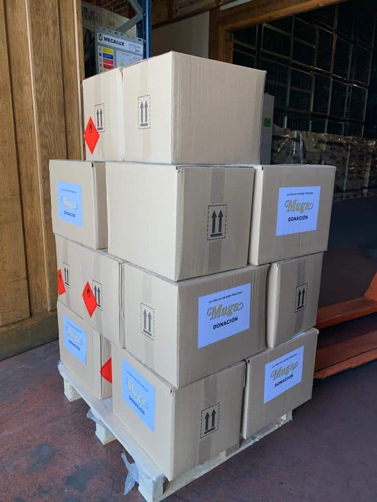 El Club de los 300 de Bodegas Muga dona material contra el coronavirus 5