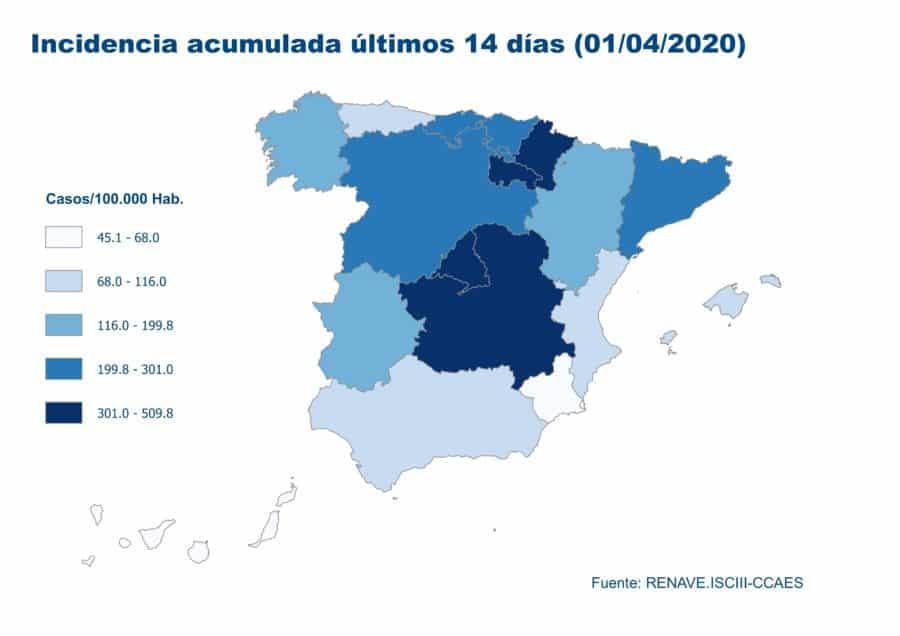 La Rioja supera los 2.000 casos acumulados por coronavirus y registra 11 fallecidos más 3