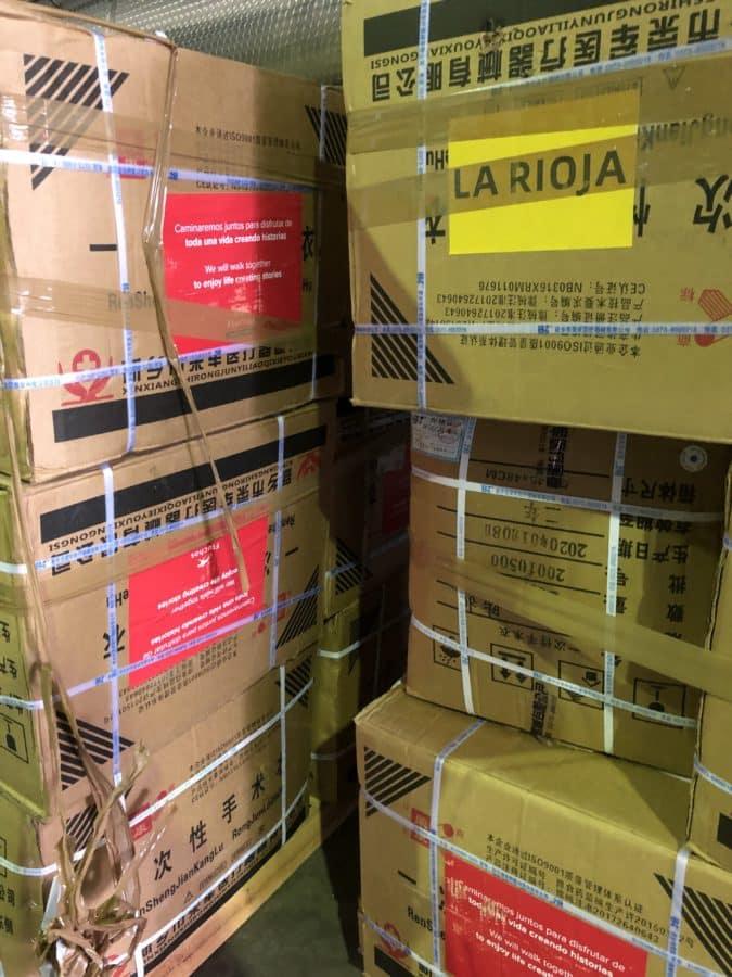 La Rioja recibe más de 600.000 nuevas unidades de material contra el coronavirus 1