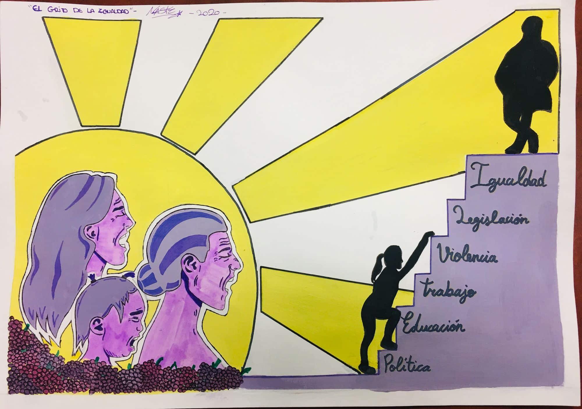 Carlota Alcaide, ganadora del primer concurso de murales del Día de la Mujer 1
