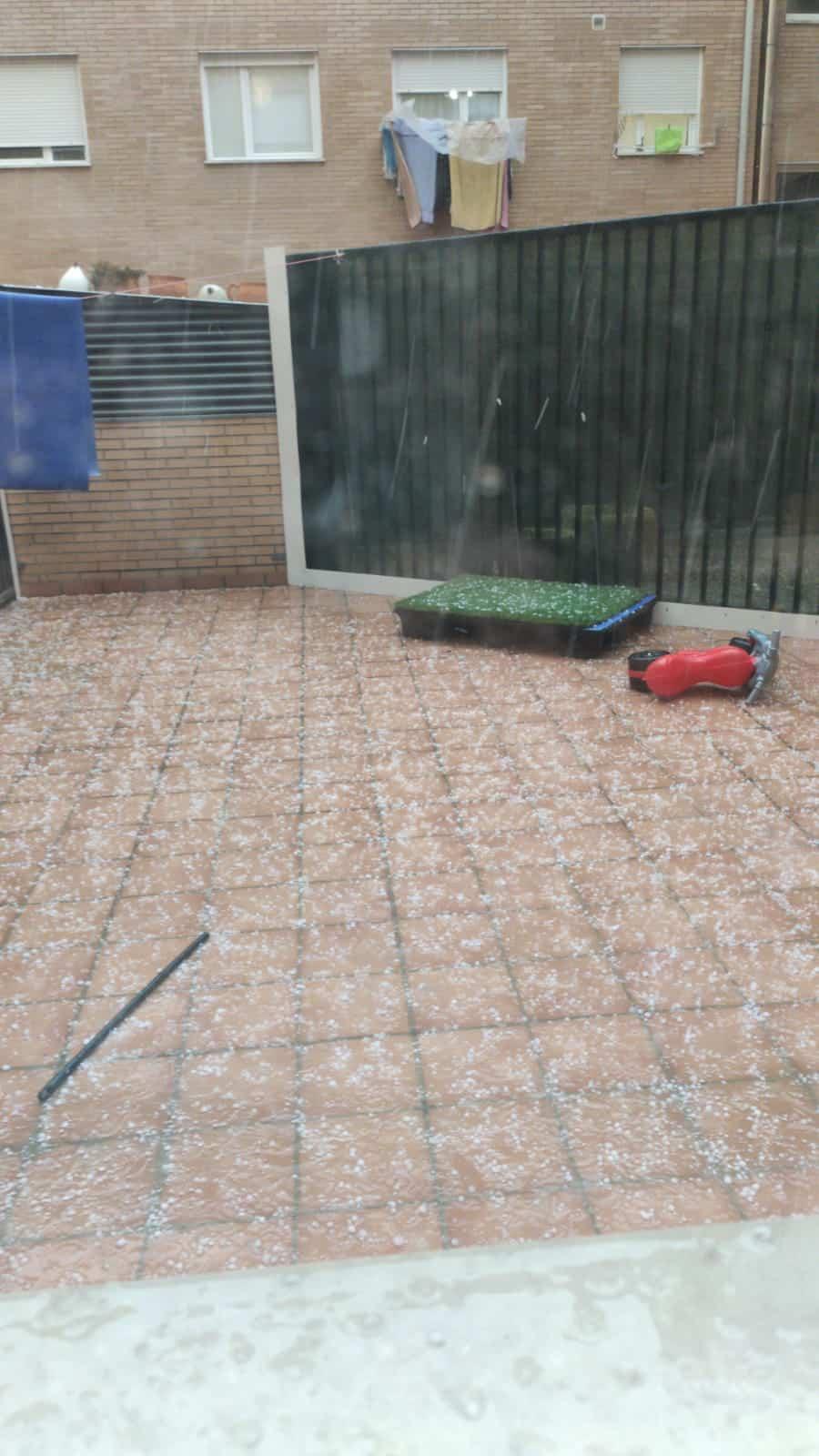 Violenta tormenta con granizo sobre la comarca de Haro 1