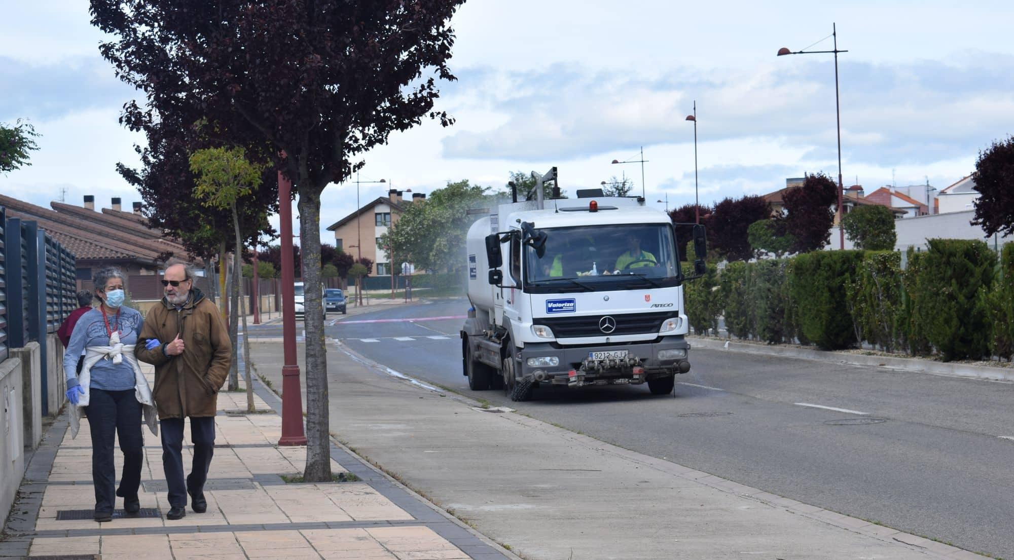 Limpieza de calles en Haro