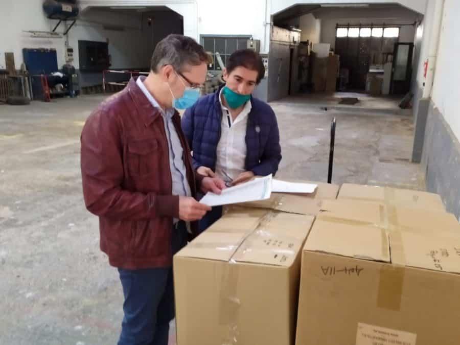 Protección Civil participa en el reparto de mascarillas en Haro y Nájera 3