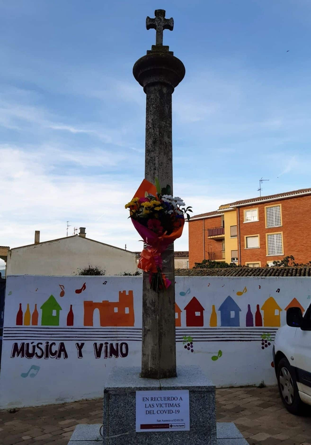 San Asensio y Cruz Roja recuerdan a las víctimas del COVID-19 1