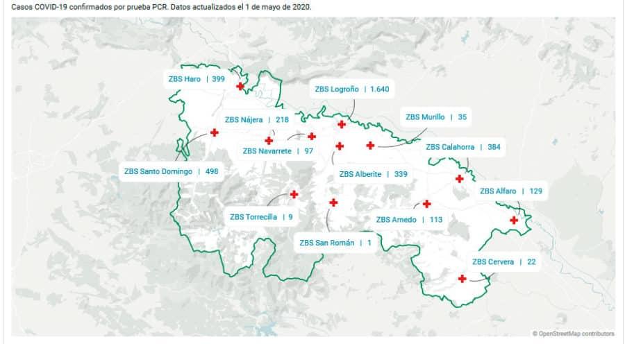 Suben levemente los casos confirmados en las zonas básicas de Haro y Santo Domingo 1