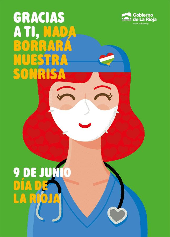 """El Gobierno dona más de 177.000 mascarillas por el Día de La Rioja: """"Gracias a ti, nada borrará nuestra sonrisa"""" 1"""