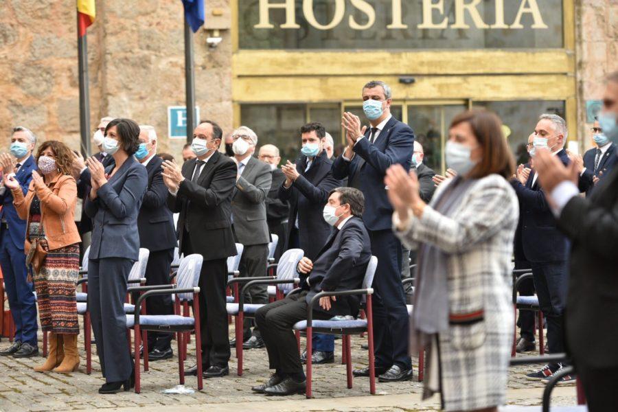 FOTOS: La celebración del Día de La Rioja en San Millán en tiempos de pandemia 3