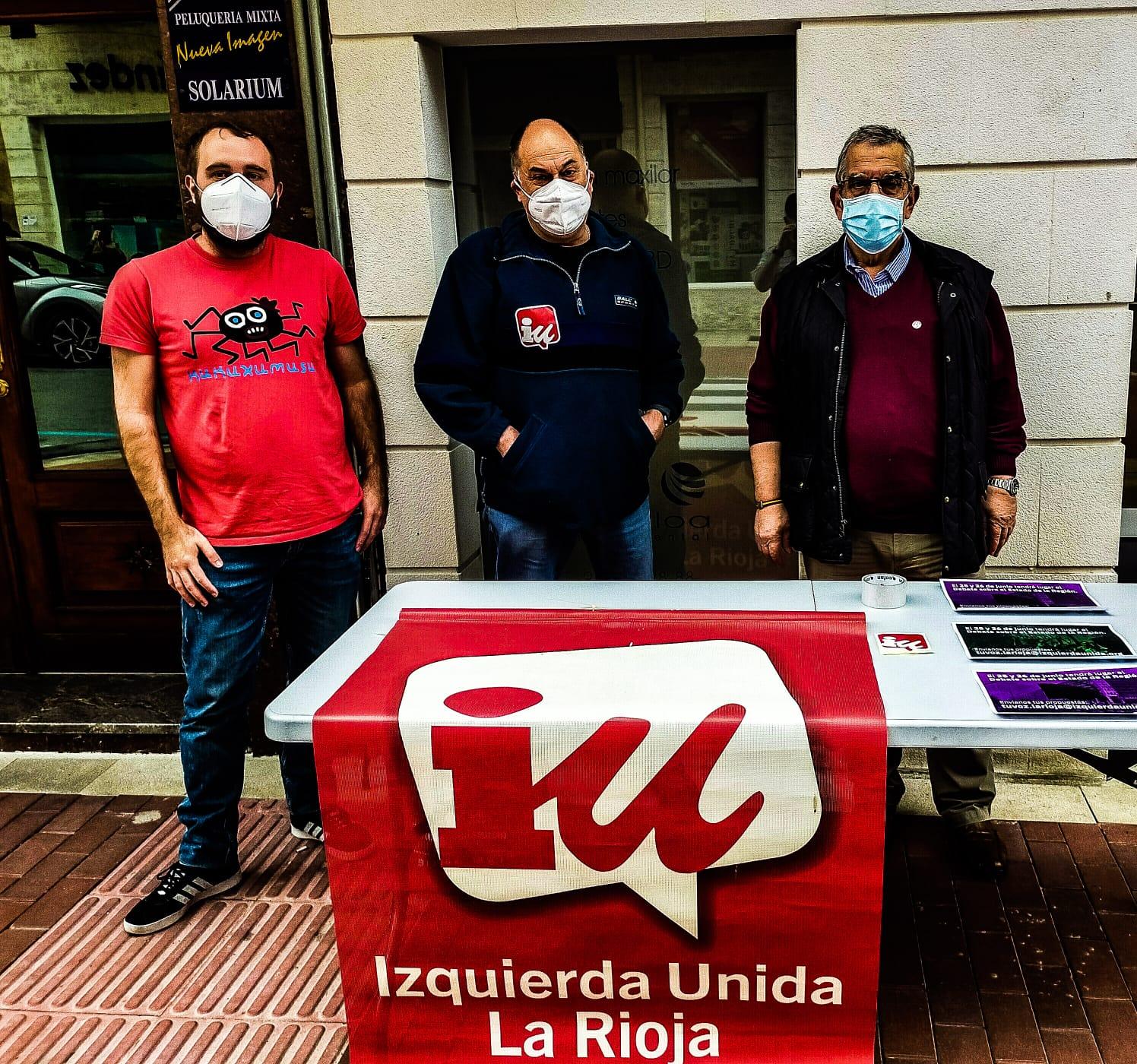 IU La Rioja trasladará la voz de los riojanos al Parlamento 1