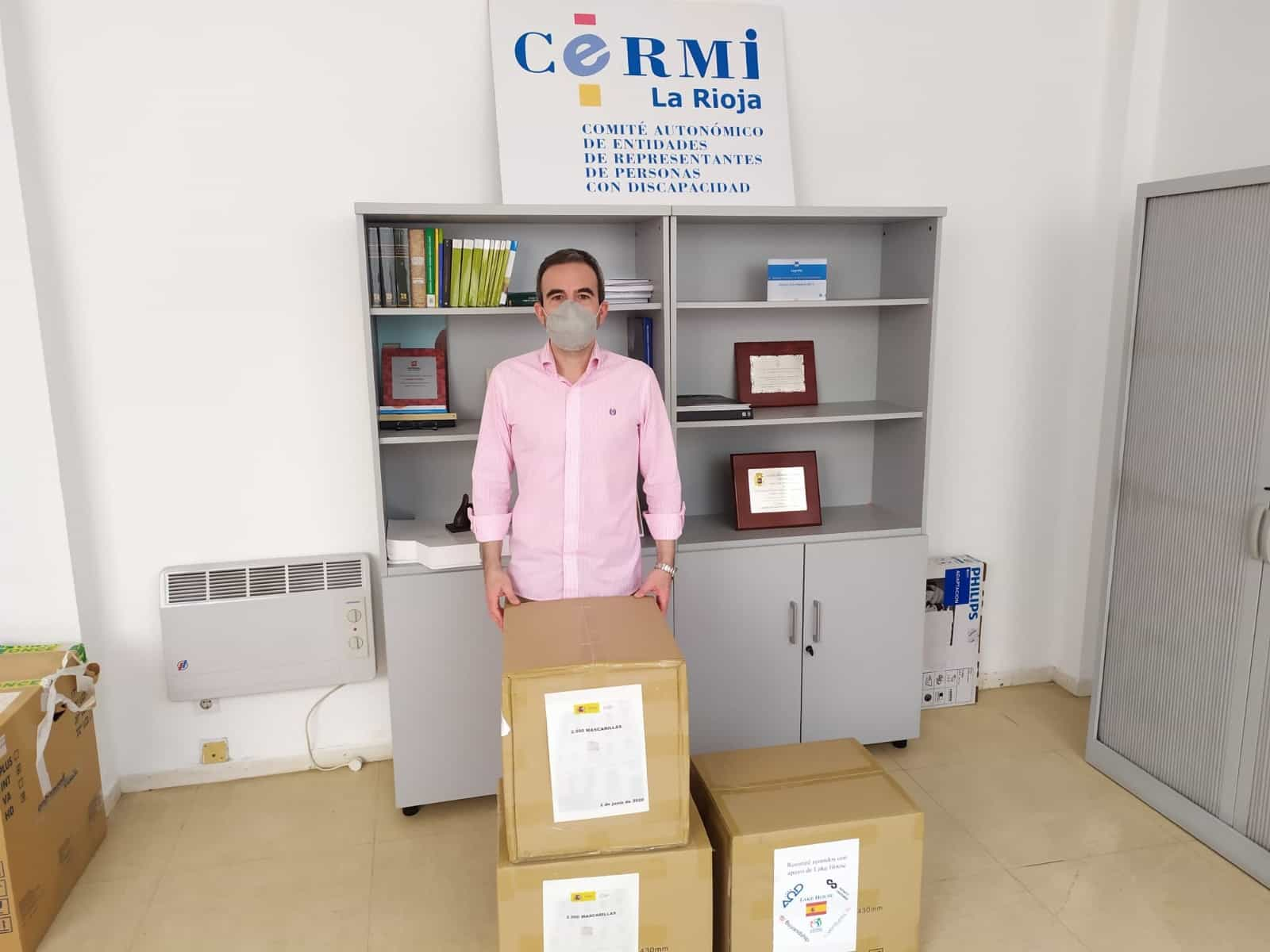 El Gobierno entrega 22.500 mascarillas a Cruz Roja, Cáritas y CERMI para los colectivos más vulnerables en La Rioja 1