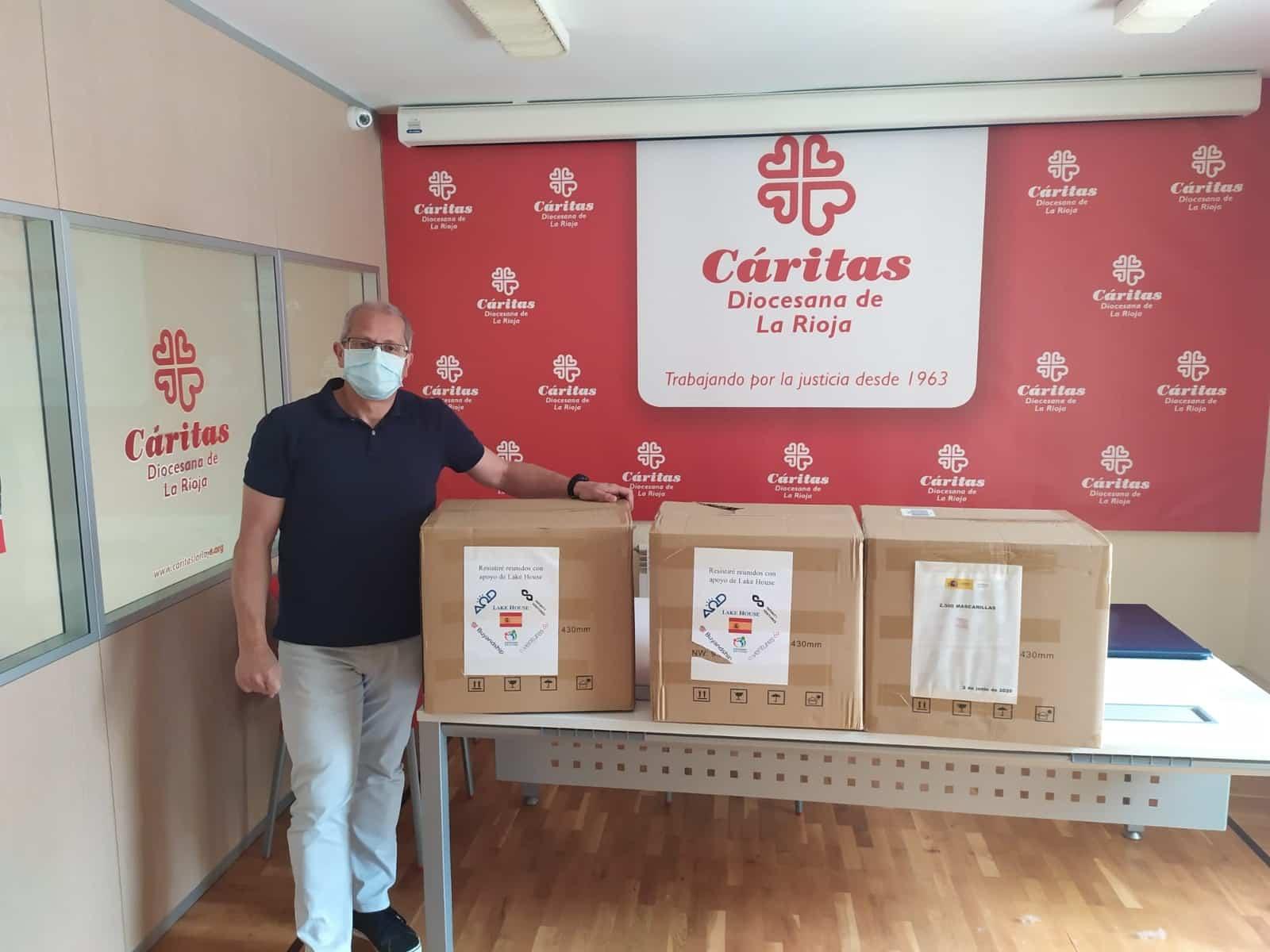 El Gobierno entrega 22.500 mascarillas a Cruz Roja, Cáritas y CERMI para los colectivos más vulnerables en La Rioja 2